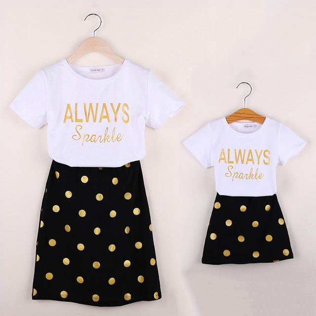 Mother and Daughter Matching Clothing Sets