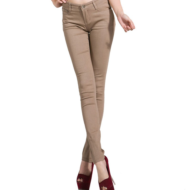 NDUCJSI High Waist Jeans For Women Autumn Skinny Office Jeans Denim Pencil Pants High Quality Button Female Jeans Femme Trousers