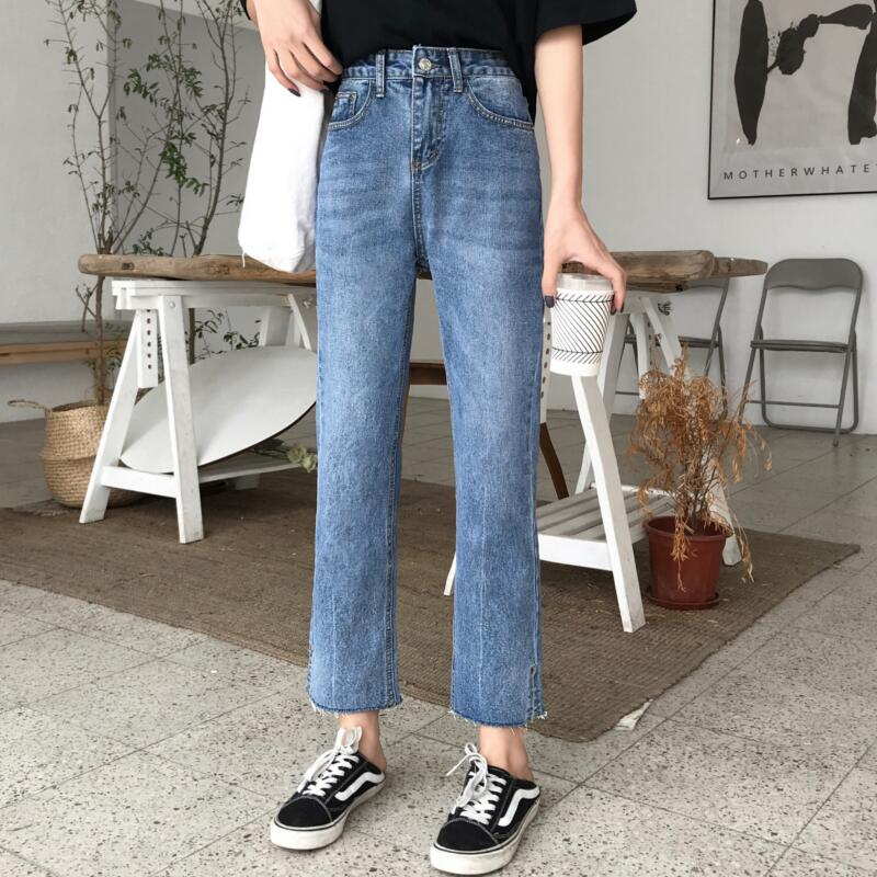 Cheap Wholesale 2019 New Spring Summer Hot Selling Women's Fashion Casual  Denim Pants XC18