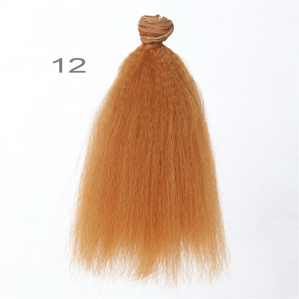 15*100cm DIY Mini Tresses Doll Wig Material Straight Hair Wig Fit for Dolls