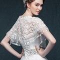 Nova Floral Lace Bolero Jacket Casamento Elegante Nupcial Wraps Bolero Acessórios Do Casamento De Renda Etole Mariage Alta Qualidade