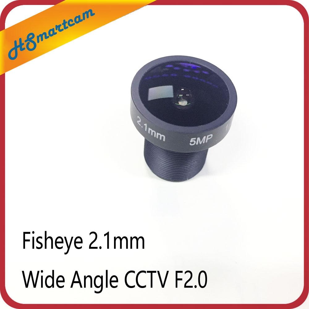1/2.5 5.0MP 2.1MM 150 Degree Wide Angle CCTV F2.0 Fixed Board Lens add 650nm IR Cut Filter For Car lens CCTV AHD/TVI/CVI IPC cctv security 1 8mm lens 170 degree wide angle cctv ir board cctv lens camera for ahd cvi tvi sony ccd hd 1080p ip cameras