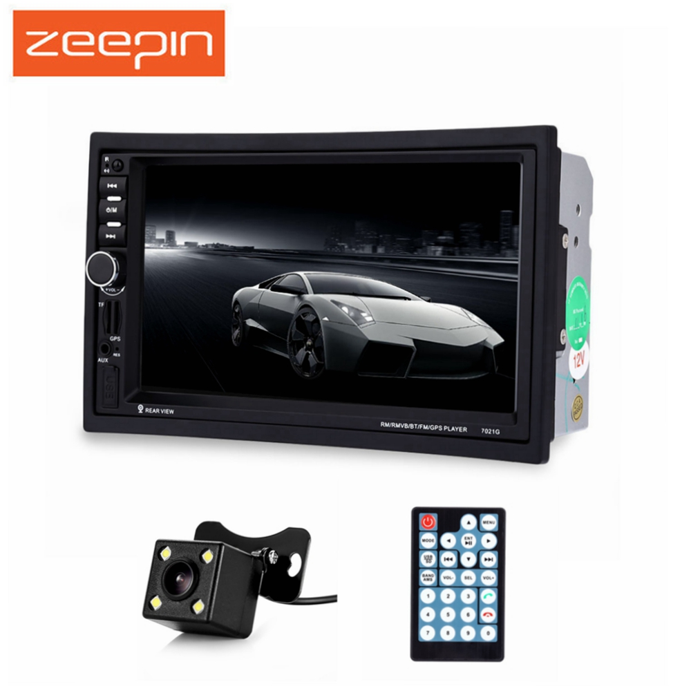 7 inch Car MP5 Player GPS Navigation 2 Din Bluetooth Multimedia FM Auto Radio With Rear View Camera Remote Control European Map 7 inch 2 din 7021g car mp5 player gps navagation bluetooth auto multimedia player with fm radio rear view camera remote control