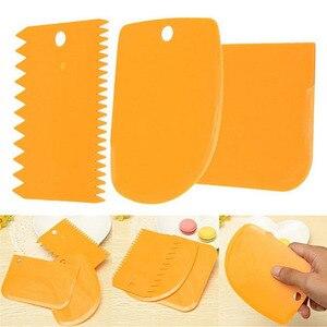 3 шт Торт Гладкий помадка резак украшения торта инструменты Кондитерские многофункциональное лезвие пластиковый скребок для торта/шпатель набор