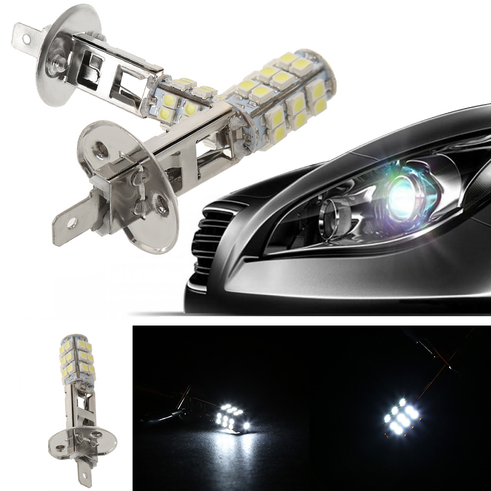 Image 2 - 2Pc High Power H1 HID 25 SMD LED Headlight Lamp Bulb Fog Xenon Pure White Bright 6000K-in LED Bulbs & Tubes from Lights & Lighting