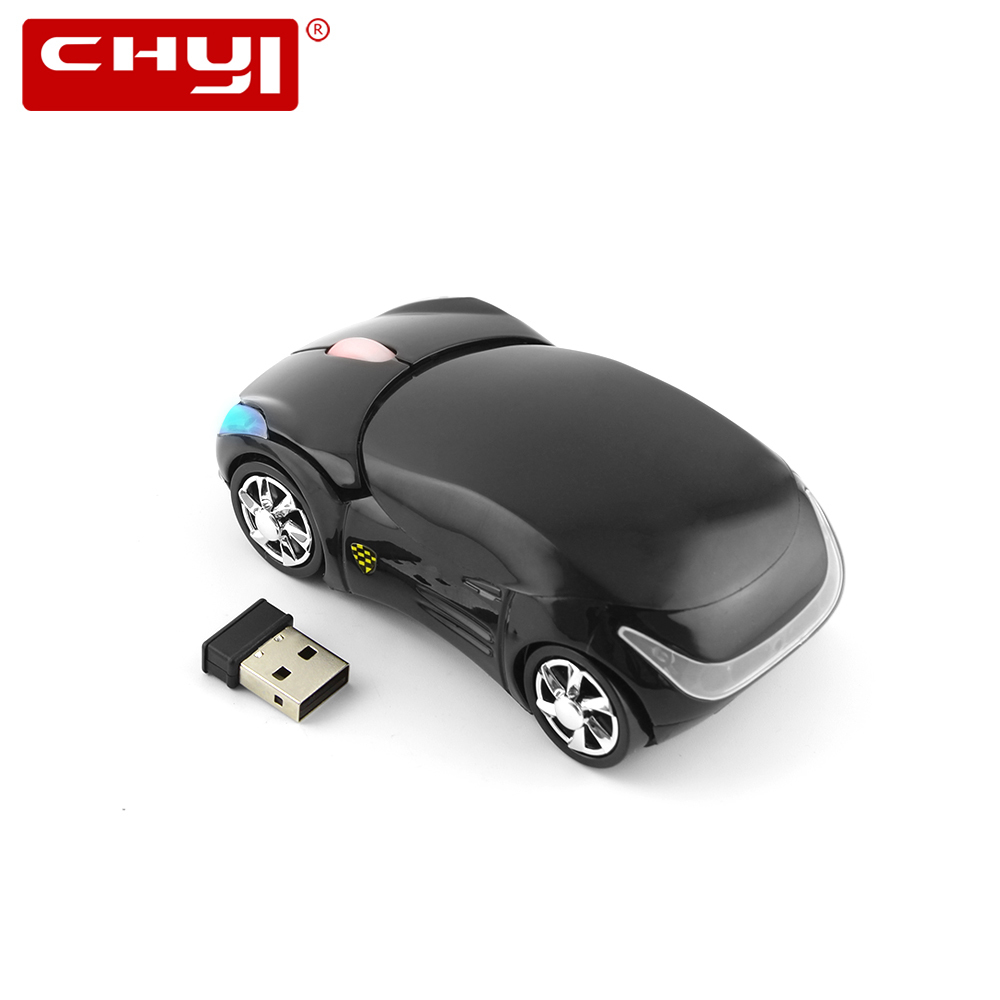 CHYI Wireless Car Mouse Ergonomic 2.4Ghz 1600 DPI 3D Sports Car Roadster Cayman Coupe Optical Mice With Wrist Rest Mouse Pad Kit