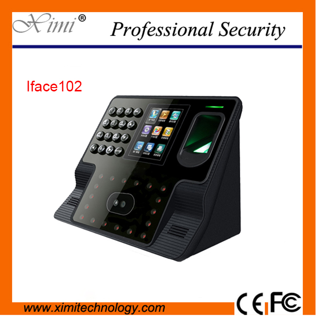 ZK face device tcp/ip rs232 communication with touch scree 2000 fingerprint user face time recorder time attendance