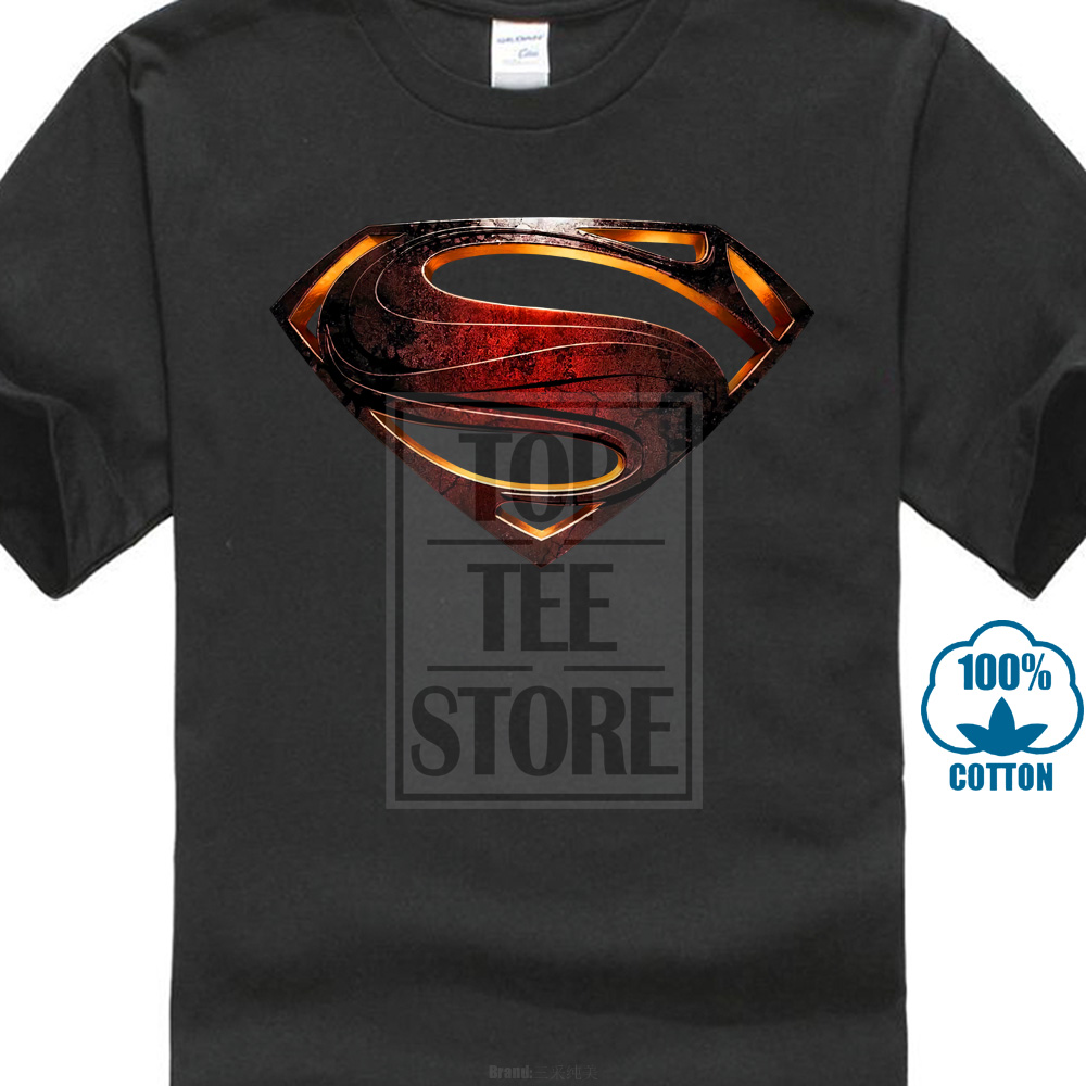 T     Shirt   Superman Logo Man Of Steel Movie All Sizes