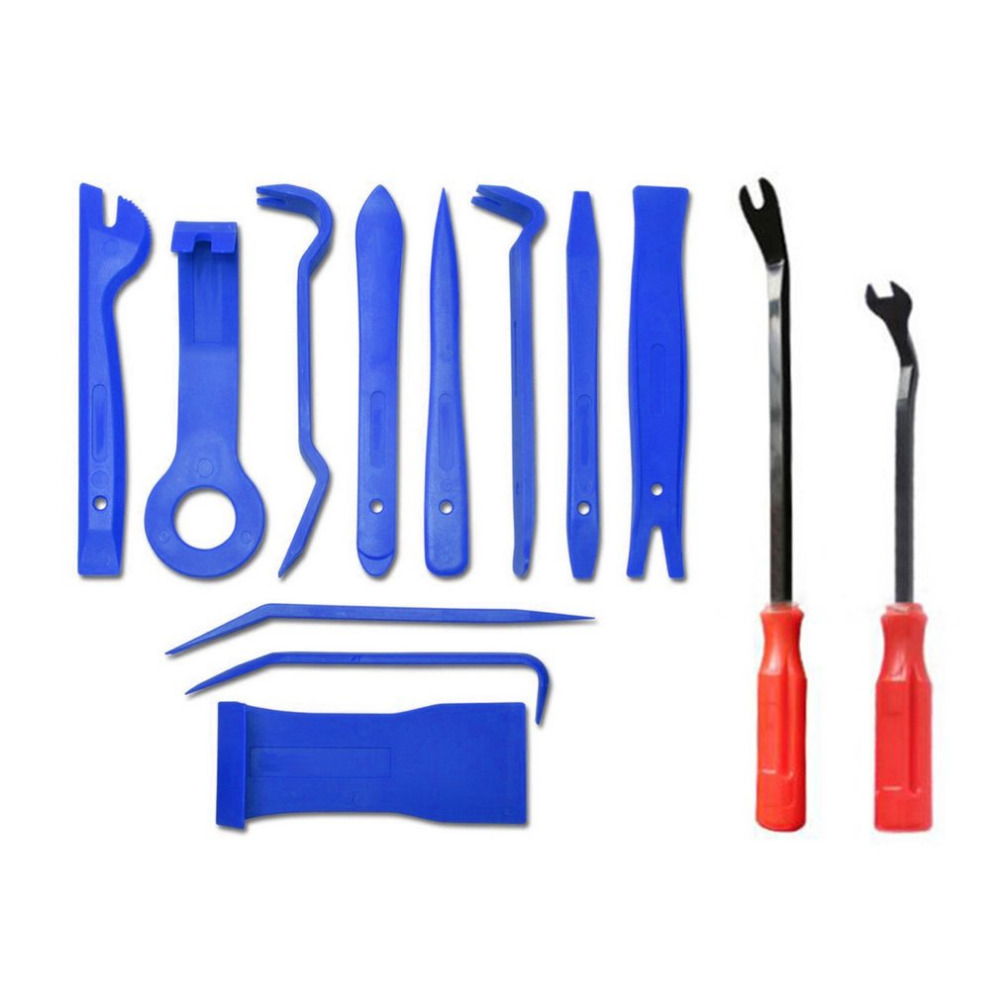 13pcs/set Trim Removal Tool Set Hand Tools Pry Bar Panel Door Interior Clip Remover Set Car Dashboard Opening Tool Set|Hand Tool Sets| |  - title=