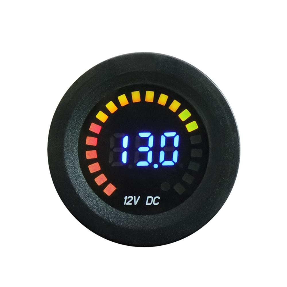1PC Car Motorcycle 12V Digital LED Display Voltmeter Voltage Gauge Panel Meter h