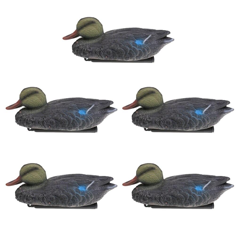 Perfeclan 5 Pieces Mallard Duck Decoy Hunting Decoys Hunter Greenhand Gear Mandarin Duck Hunting Decoy
