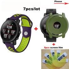 Купить с кэшбэком for Amazfit Stratos Smart Watch Strap 22mm Pulsera Correa for Xiaomi Huami Amazfit Stratos 2 Bracelet Band Silicone Wrist Case