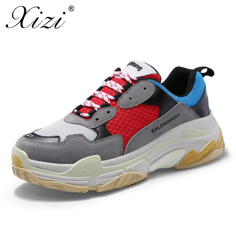 XIZI Large size 36-44 couple sport running shoes breathable sneakers sports outdoor air net mat women jogging shoes for women