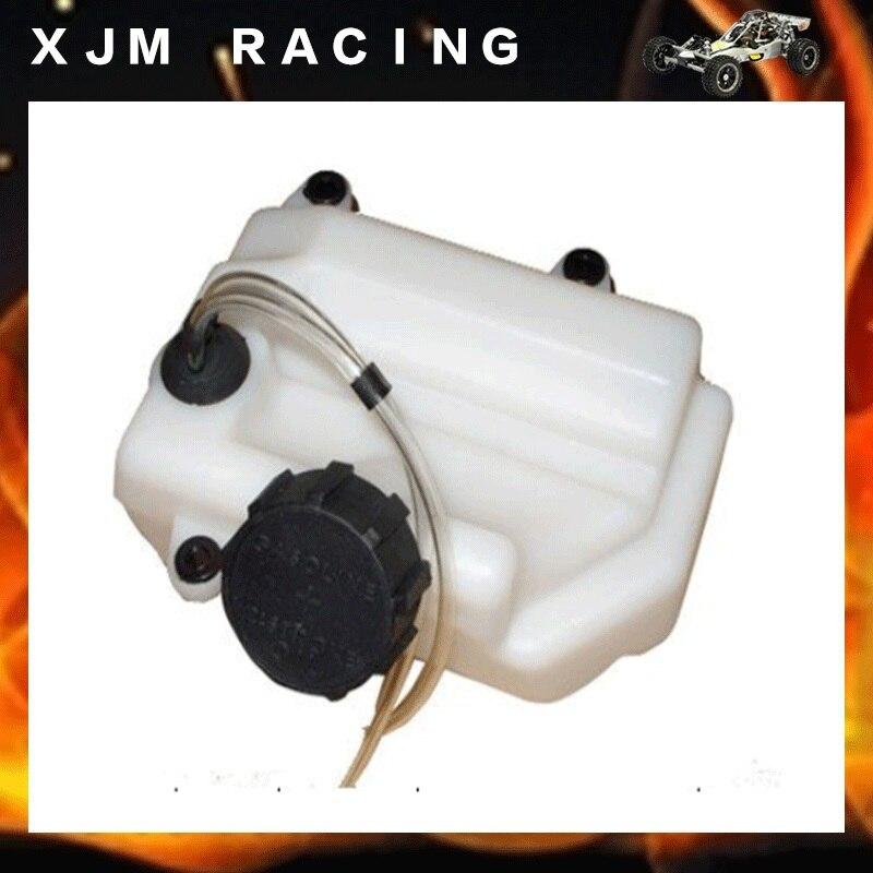 Rc car fuel tank set fit hpi rovan baja 5b engines parts gtbracing fuel tank assembly metal fuel tank cover for 1 5 rc car baja 5b 5t 5sc parts