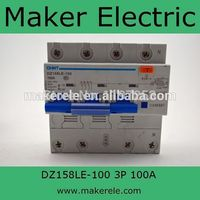 Mcb Circuit Breaker DZ158LE 100 3P N 100A