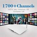 2017 Caixa de TV Android 1G/8G Quad Core 2.4G WIFI IPTV Inteligente Caixa de TV com Full HD Europa Itália Árabe Canais de Mídia Android jogador