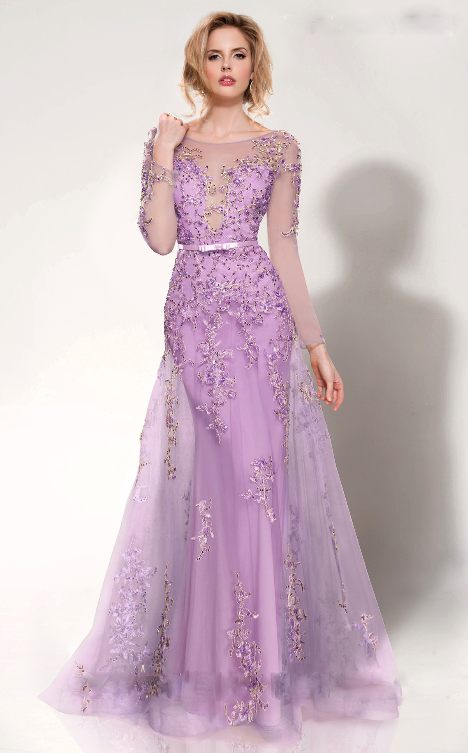 Compare Prices on Light Purple Long Sleeve Prom Dress- Online ...