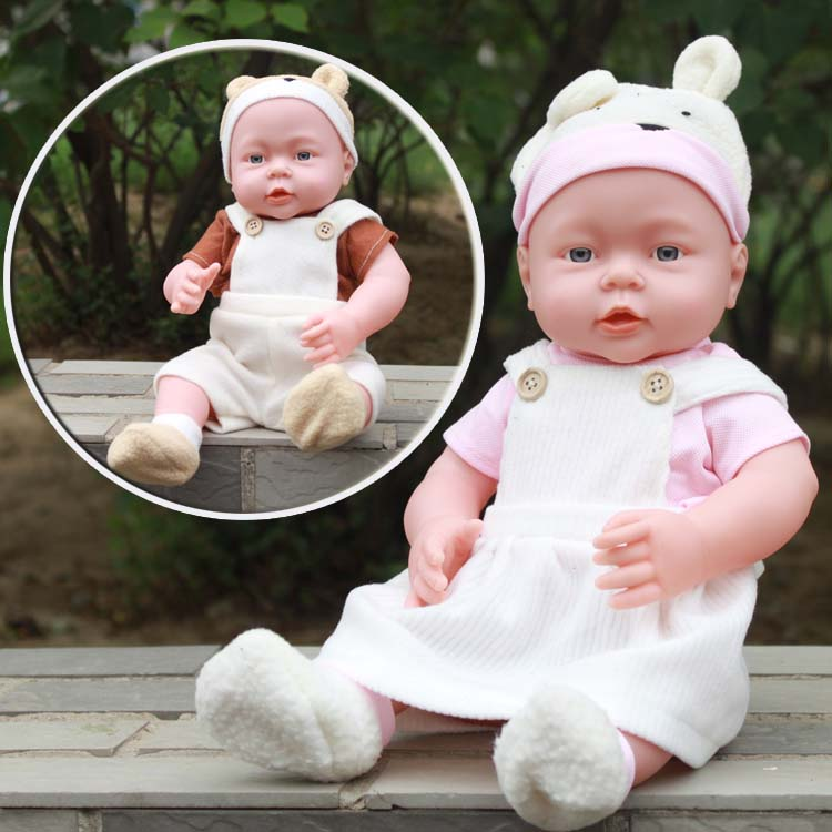 41 cm Bébé Enfants Reborn Baby Doll En Vinyle Souple En Silicone Réaliste Son Rire Pleurer Nouveau-Né Bébé Jouet pour Garçons Filles cadeau d'anniversaire
