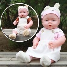 41CM bebé niños Reborn bebé muñeca de Vinilo Suave de silicona sonido realista reir Cry bebé recién nacido juguete para niños niñas regalo de Cumpleaños