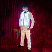 LED Light Jacket Illuminated Glowing Luminous LED Clothing Fashion Clothes Wedding Party Men Suits Dance Costumes Accessories