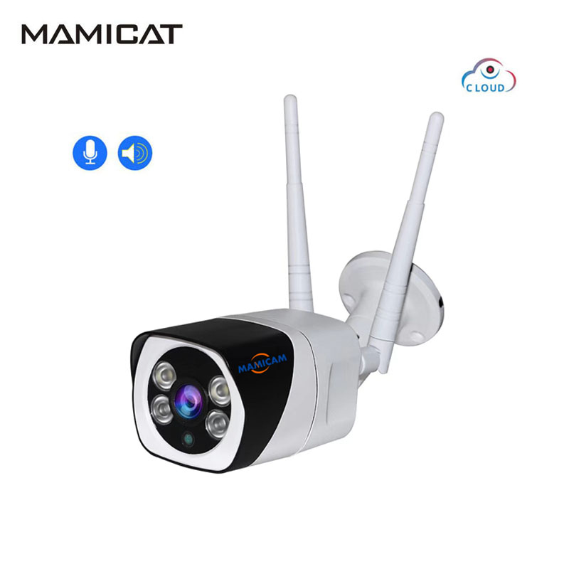 Cloud WIFI IP Camera SD Card Slot 2MP HD Outdoor Bullet Cam Waterproof Infrared Night Vision Home Security Video Surveillance