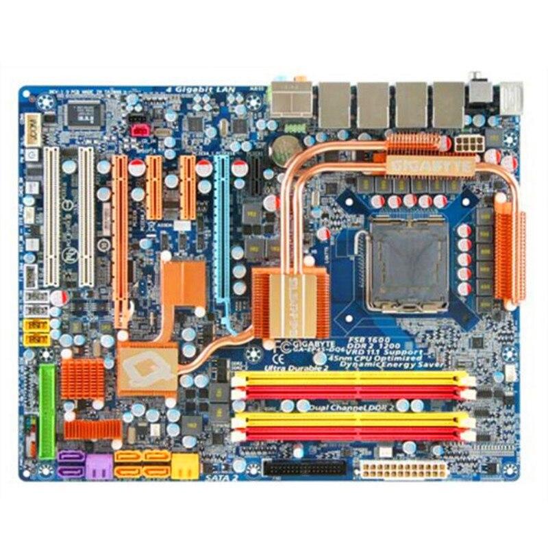 Gigabyte DDR2 Desktop Motherboard Lga 775 GA-EP45-DQ6 SATA2 ATX Used for 16G Sata2/Usb2.0/Atx