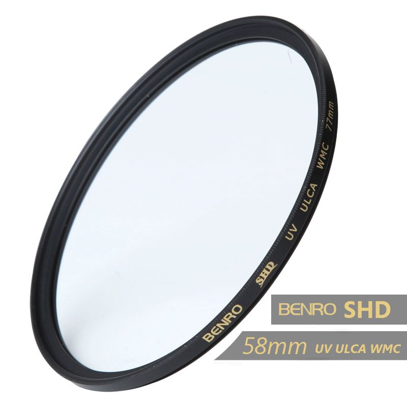 Benro 58mm UV Filter SHD UV ULCA WMC Filter 58mm Waterproof Anti-oil Anti-scratch Ultraviolet Filters Free Shipping benro 58mm cpl filter shd cpl hd ulca
