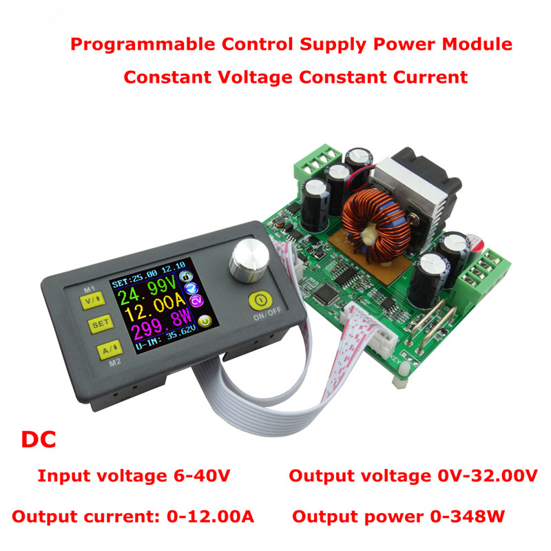 32V 12A Constant Voltage Step-down current Programmable Power Supply module buck Voltage converter LCD voltmeter constant digital voltage current meter step down dp50v2a voltage regulator supply module buck color lcd display converter