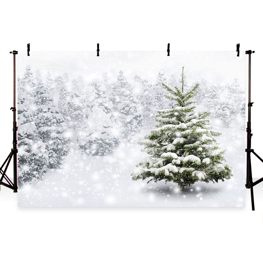 Christmas Tree White Background.Us 5 49 44 Off Mehofoto Photography Backdrops Christmas Backdrop Winter Snow Tree White Bokeh Baby Children Party Fotografia Photo Backgrounds In