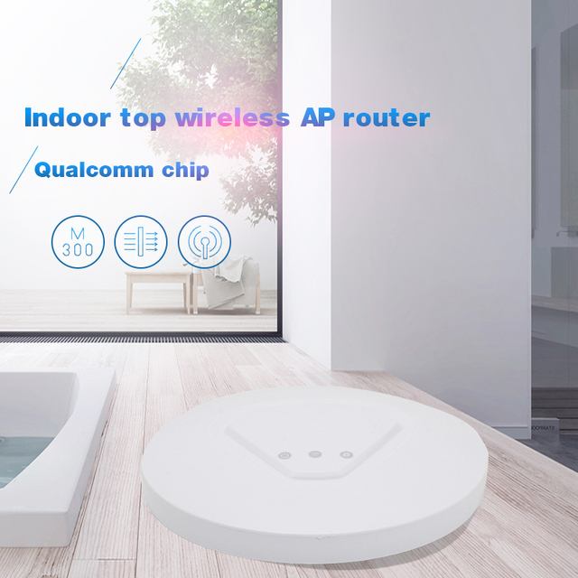 US $43 97  300Mbps in Wall WiFi Access Point Ceiling AP 802 11b/g/n wifi  router POE Indoor AP for big area wifi coverage Access Point AP -in Access