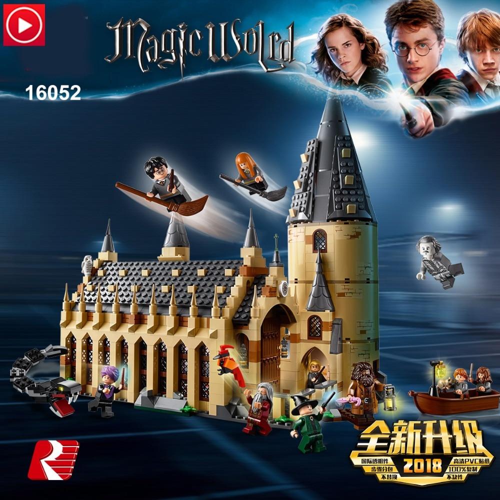 Legoed technic Lepin Harri Potter Castle Magic School Hogwarts DIY alcazar Ancient Architecture Tower Legoing Building Block Toy
