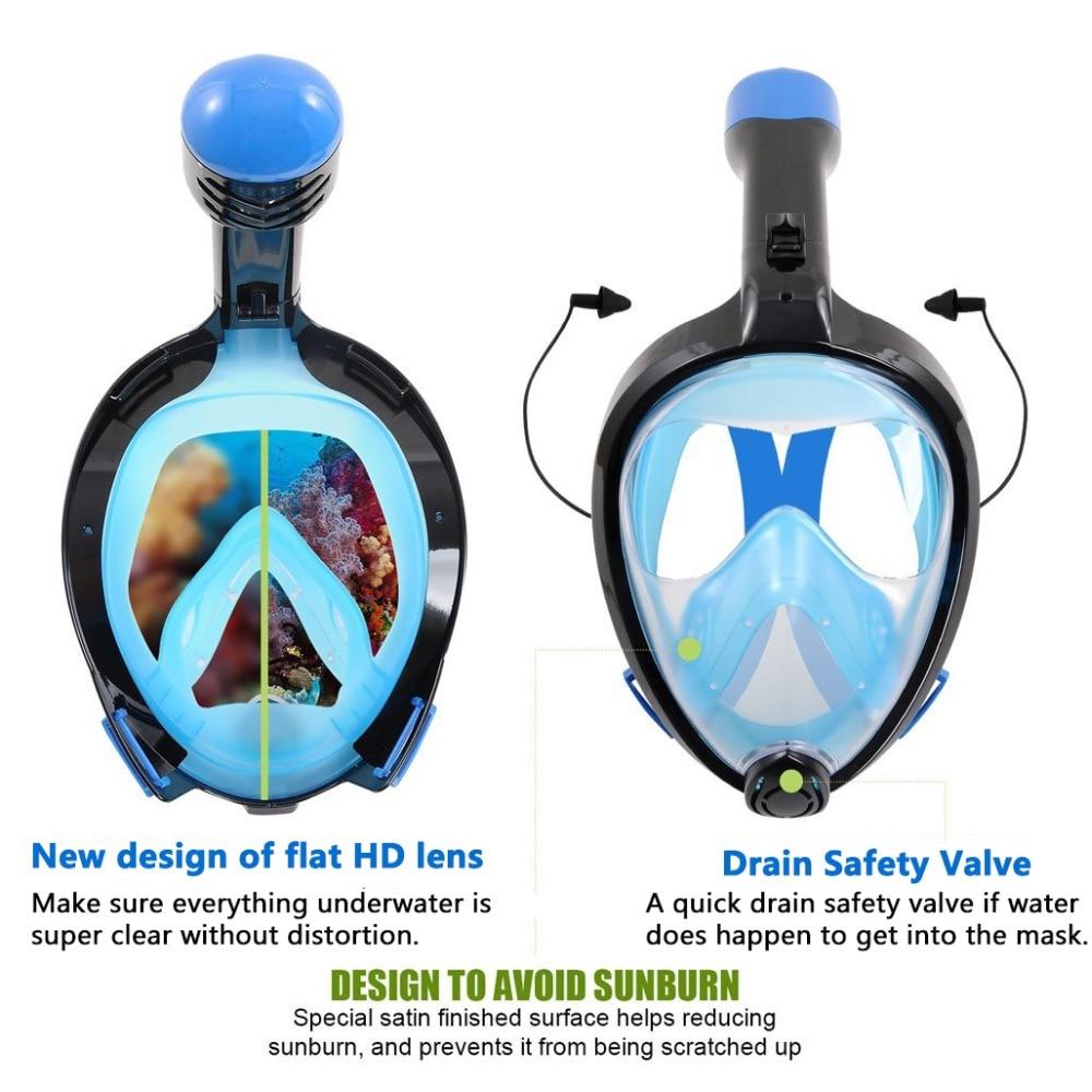 Силикон Толық жүзді маска Маска - Су спорт түрлері - фото 4