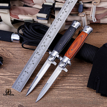 Folding blade knife High hardness blade wood handle camping knife outdoor stainless steel knives Outdoor Survival Hunting Knife цены