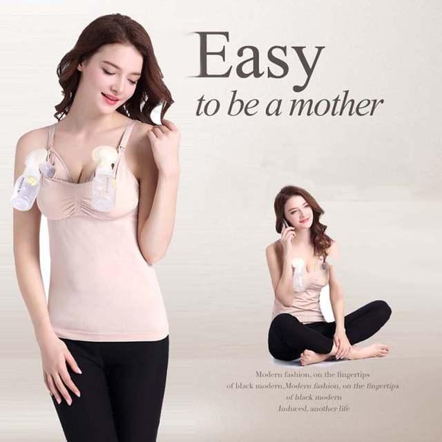 0f32cdd61027d Hands-Free Maternity Breast Pump Milk Bra Breastfeeding Nursing Bra Pumping  Milk Bra For Mom