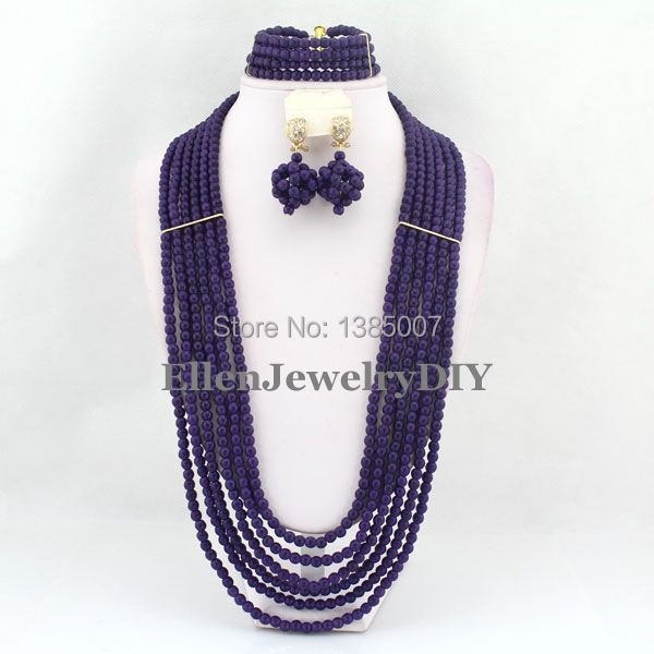 African Jewelry Set Nigerian African Wedding Beads Jewelry Set Beads Necklace Set Free Shipping   W6561African Jewelry Set Nigerian African Wedding Beads Jewelry Set Beads Necklace Set Free Shipping   W6561