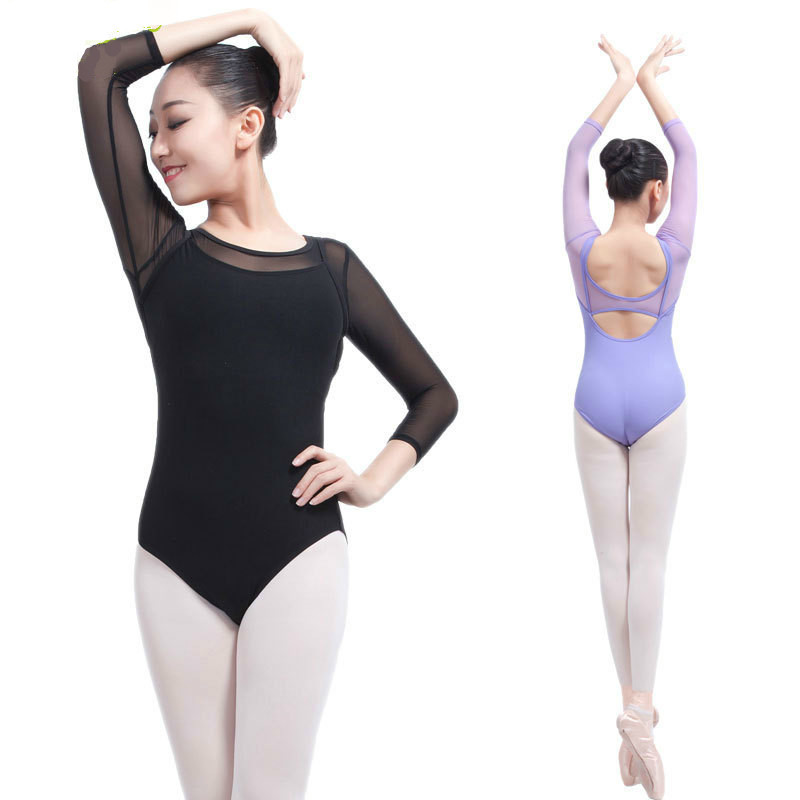 Womens Adult Dance Costume Ballet Gymnastic Bodysuit Leotard Dancewear Unitard