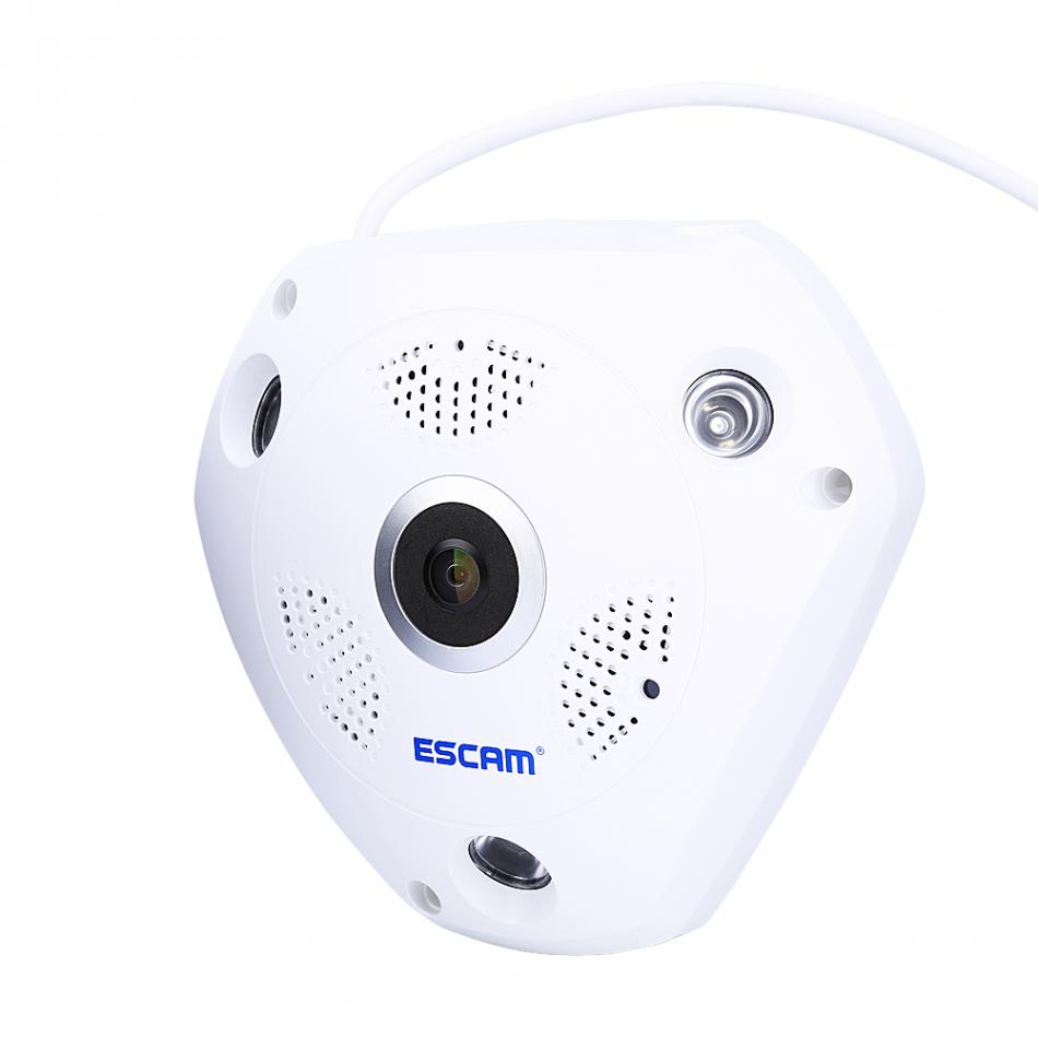 1.3MP 960P HD 3D Panoramic H.264 IP Cam WiFi 360 Degree Fisheye Camera Motion Detection High Quality