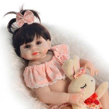 48cm Full silicone reborn baby doll  bebe reborn lol dolls toys for chidren gift newborn baby girl bonecas