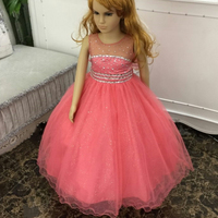 Cotton Lining 2 12 Years Girl Party Dress 2016 New Tulle Flower Girl Dresses Stone Royal