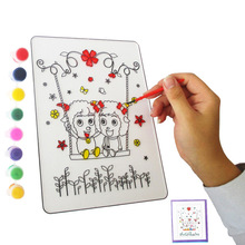 купить Magic Water Painting Book with Magic Pen Drawing Board Coloring Book for Kids Education Learning Toys for Children 2018 по цене 341.86 рублей