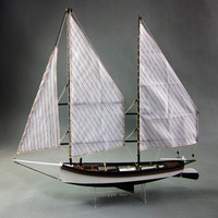 1:24 Scale Sharpie Ship Wooden Sailing Boat Model DIY Kits Building Kits Classic Sailboat Decoration Toy Gift Home