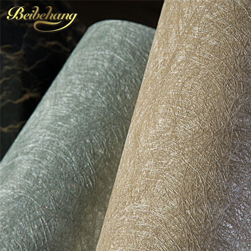 beibehang Silk Wallpaper Plant Fiber Luxury Sound-Absorbing Water Flocking Wall Paper Roll for Living Room Home Decor Coffee bqlzr 12 pieces light yellow 30x30x2 5cm home deco sound absorbing panels