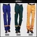 Yemingduo otoño ropa de trabajo pantalones pantalones masculinos pantalones de trabajo gasolinera antiestático reflective