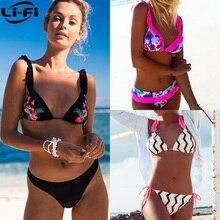 LI-FI 2019 Bikini, Bikini brasileño, mujeres Tanga de baño de verano Sexy traje de baño de nuevo traje de baño bañista Biquini traje de baño