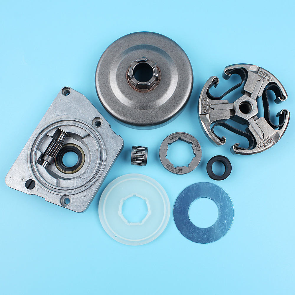 Clutch Drum Oil Pump Worm Gear Dust Cover Washer For Husqvarna 268 272 66 61 266 Chainsaw 3/8-7T Sprocket Needle Bearing oil pump with 2pcs worm gear wheel fits husqvarna 61 266 268 162 272 replace 501512501 501513801