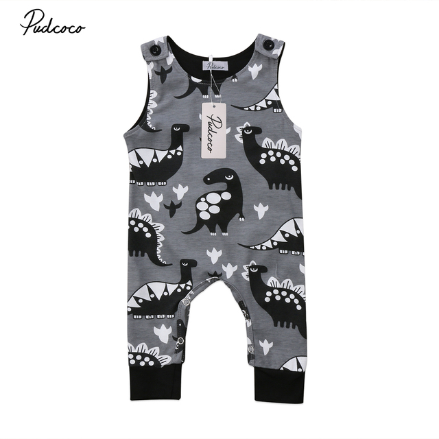 79589d1672f1 Pudcoco Newborn Infant Baby Boy Girl Dinosaur Romper Sleeveless Jumpsuit  Playsuit One-Pieces Clothes Outfits