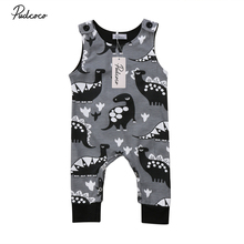 Pudcoco Newborn Infant Baby Boy Girl Dinosaur Romper Sleevel