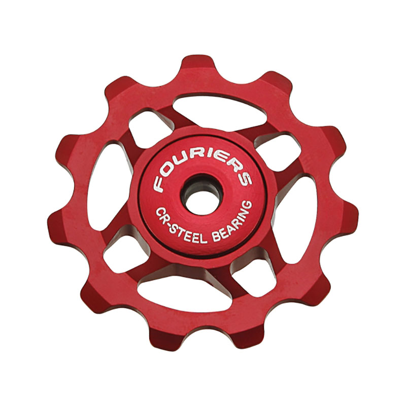 купить FOURIERS MTB Road Bike Ceramic Pulley 7005 Aluminum Alloy Rear Derailleur 11T Guide Cycling Ceramics Bearing Jockey Wheel 2pcs недорого