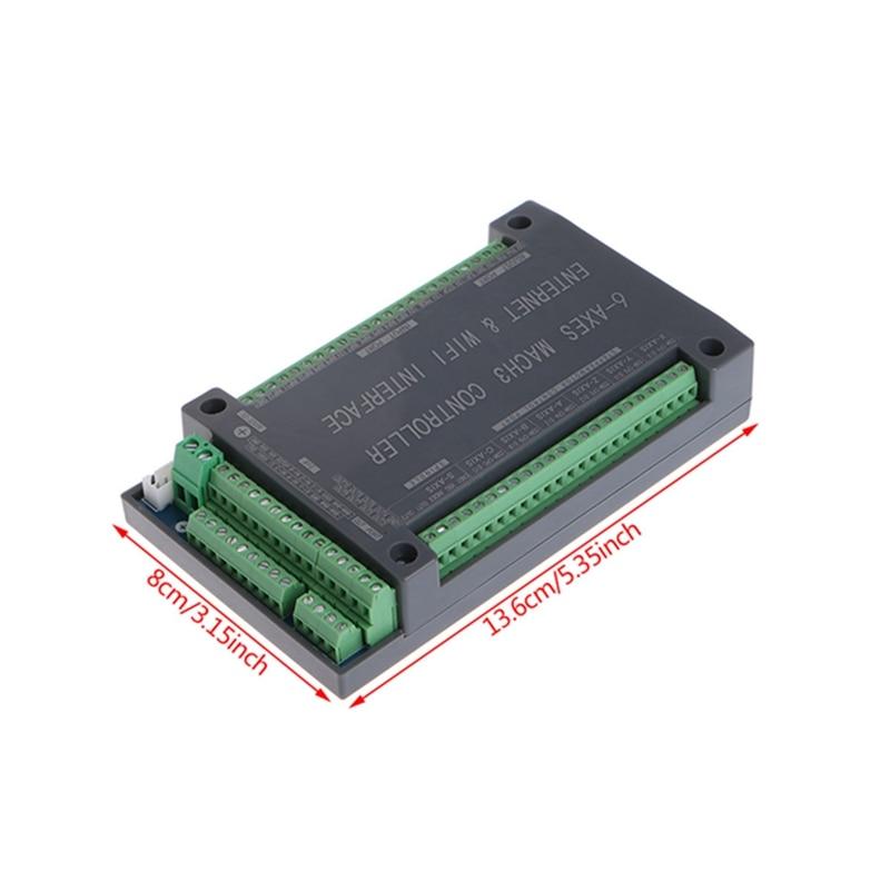 Image 5 - NVUM 6 osi CNC kontroler MACH3 Ethernet płyta interfejsu karty 200KHz dla silnika krokowego w Moduły automatyki domowej od Elektronika użytkowa na