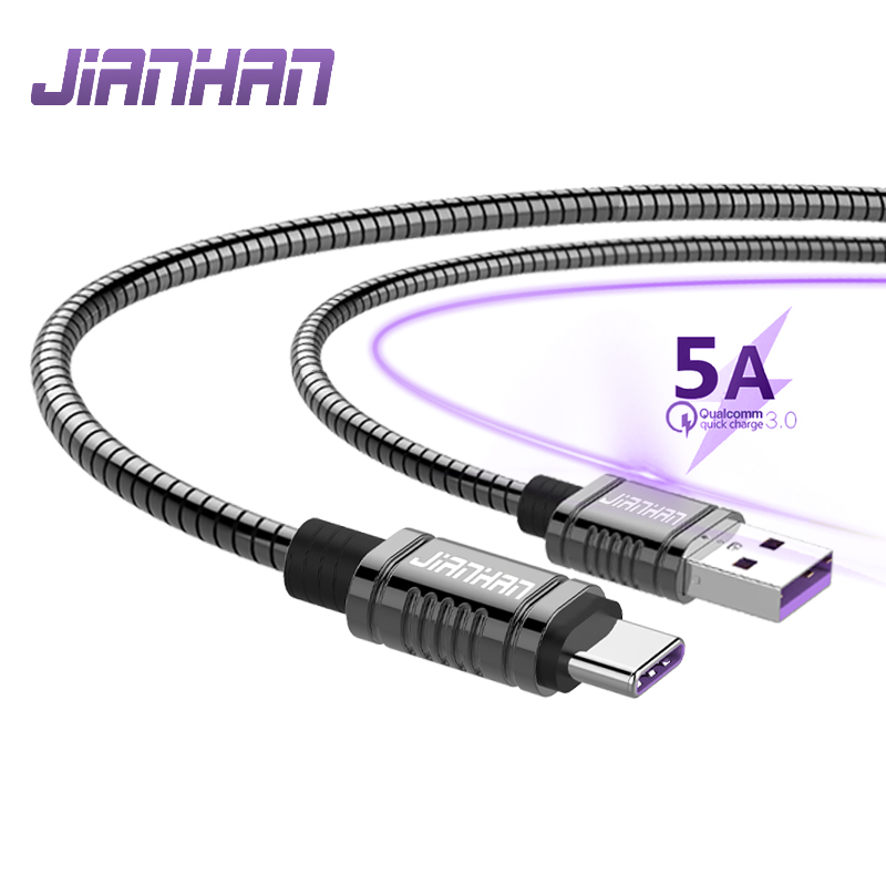3A Type C USB 2.0 Cable wire For Huawei Honor 5a Fast Charging metal Wire Samsung s9 Note fast
